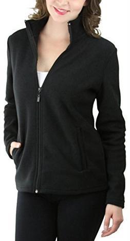 ToBeInStyle Women's Zip High Collar Polar Fleece L.S. Jacket