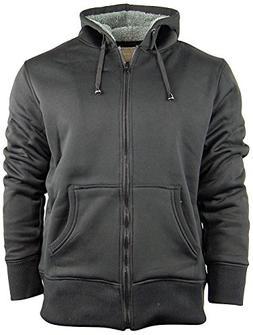 Men's Zip Up Hoodie/Hooded Jacket With Fleece Lining | Soft