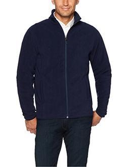 Amazon Essentials Men's Full-Zip Polar Fleece Jacket, Navy,