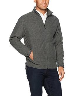 Amazon Essentials Men's Full-Zip Polar Fleece Jacket, Charco