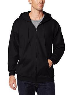 Hanes Men's Full Zip Ultimate Heavyweight Fleece Hoodie, Bla
