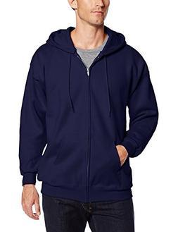 Hanes Men's Full Zip Ultimate Heavyweight Fleece Hoodie, Nav