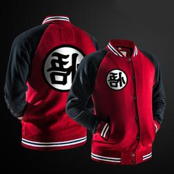 ZOGAA Anime Dragon Ball Goku Varsity <font><b>Jacket</b></fo