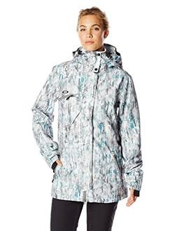 Oakley Women's Zulu Biozone Jacket, Snow Camo, Small